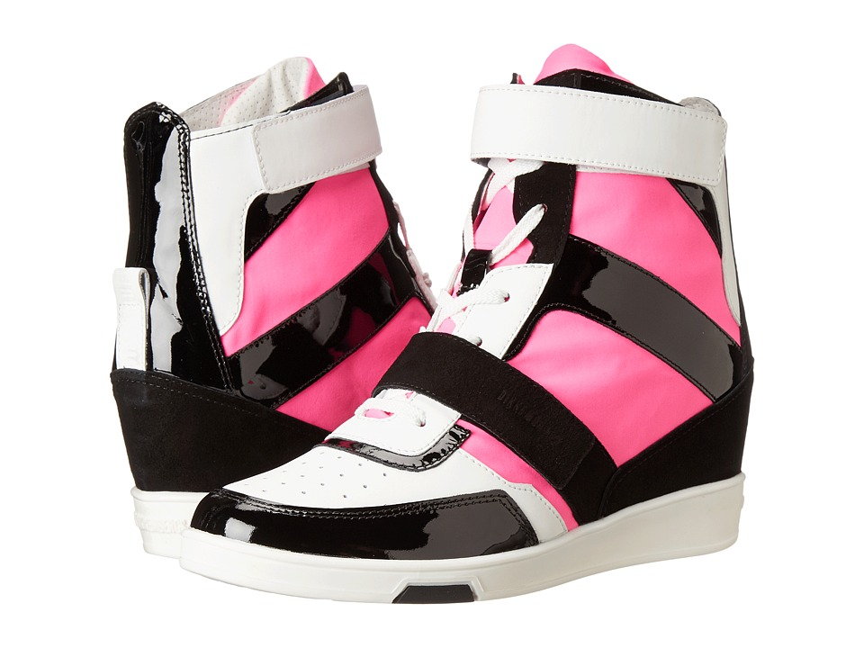 Bikkembergs Jodie High Top Sneaker (White/Black/Fuchsia) Women