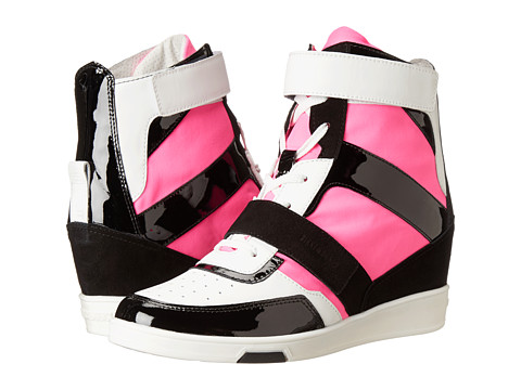 Bikkembergs - Jodie High Top Sneaker (White/Black/Fuchsia) Women's Lace-up Boots