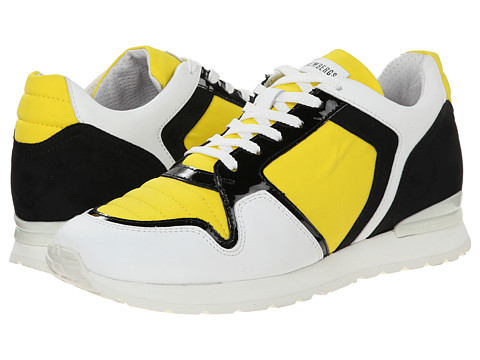 Bikkembergs - Kate Color Block Low Top Trainer (Yellow/Black) Women's Shoes