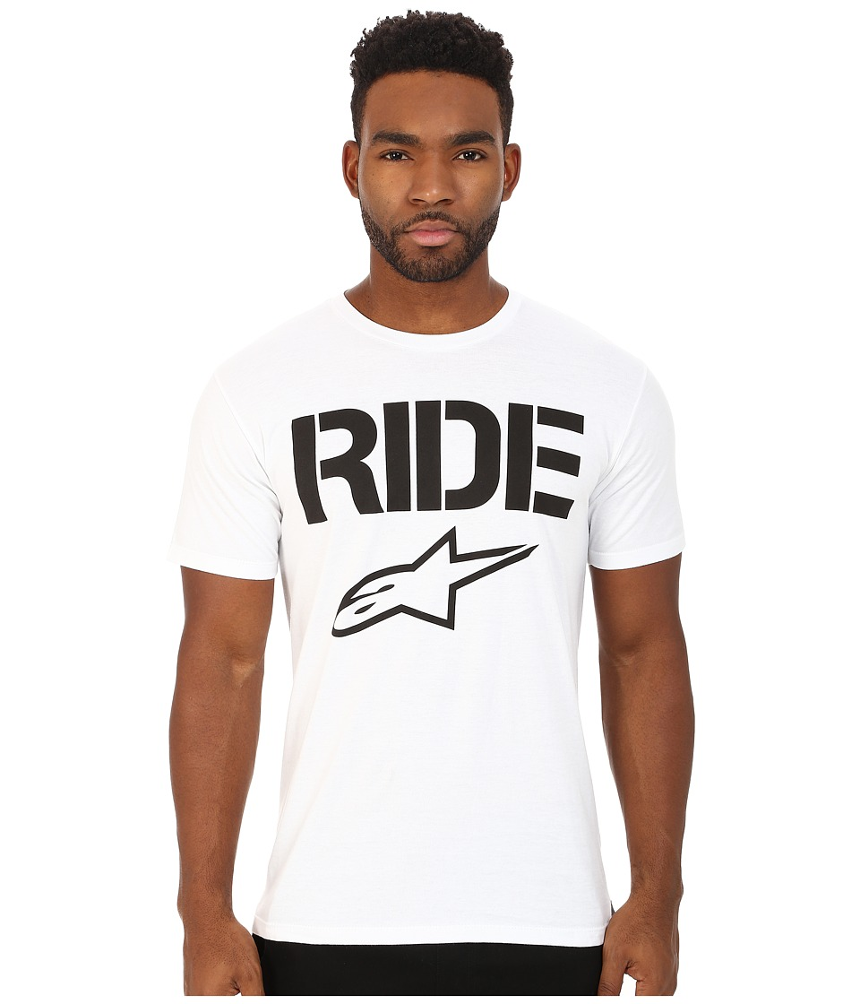 Alpinestars - Ride Solid Tee (White) Men's T Shirt