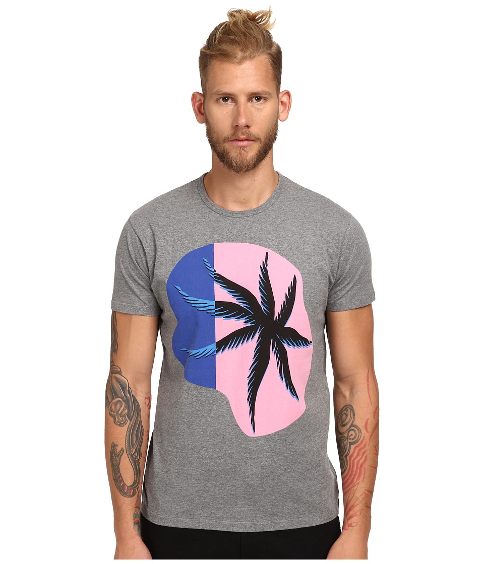 Marc by Marc Jacobs - Cut Palm Tee (Grey Melange Multi) Men's T Shirt