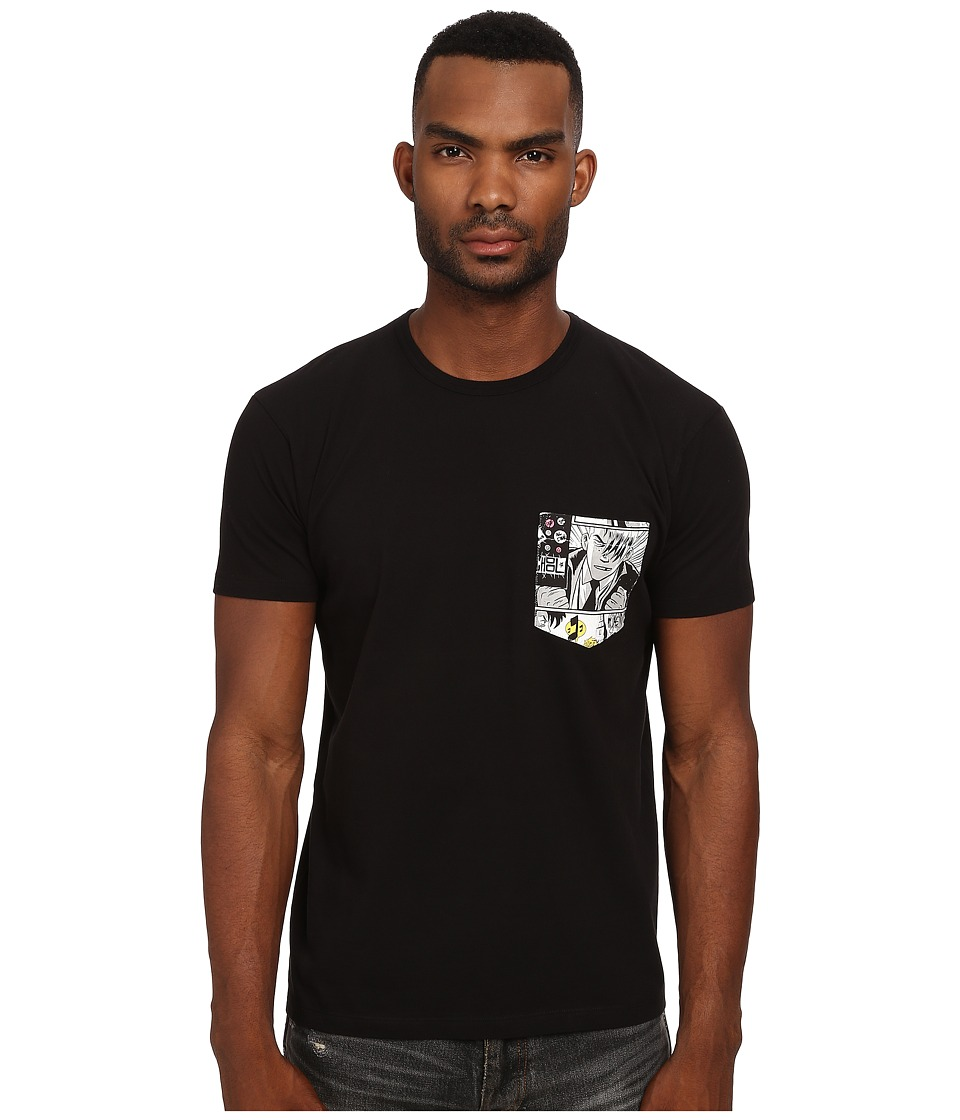 Marc by Marc Jacobs - Comic Pocket Tee (Black Multi) Men's T Shirt