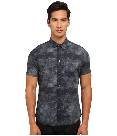 Marc by Marc Jacobs - Chalkboard Shirt (Black Multi) Men's Short Sleeve Button Up