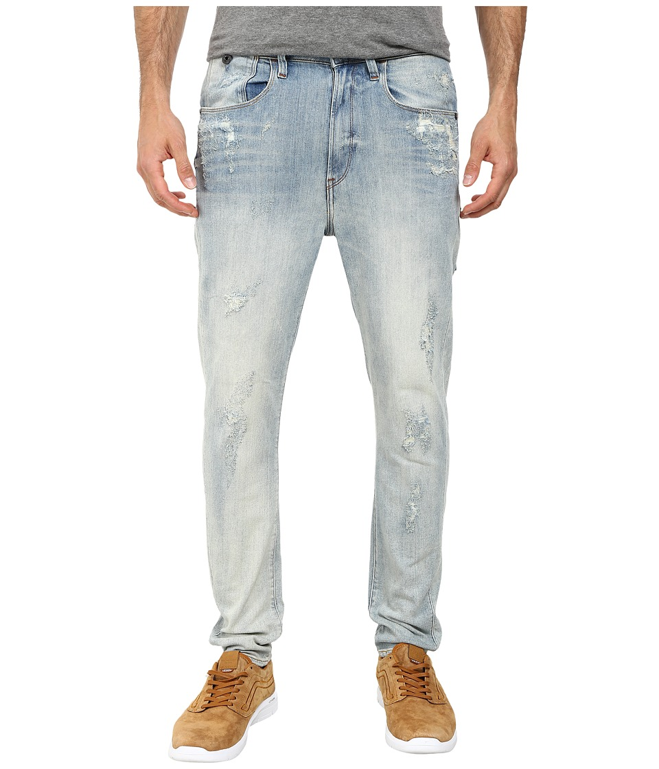 G-Star - Type C 3D Super Slim in Gaty Stretch Denim Light Aged Destroy (Gaty Stretch Denim Light Aged Destroy) Men's Jeans