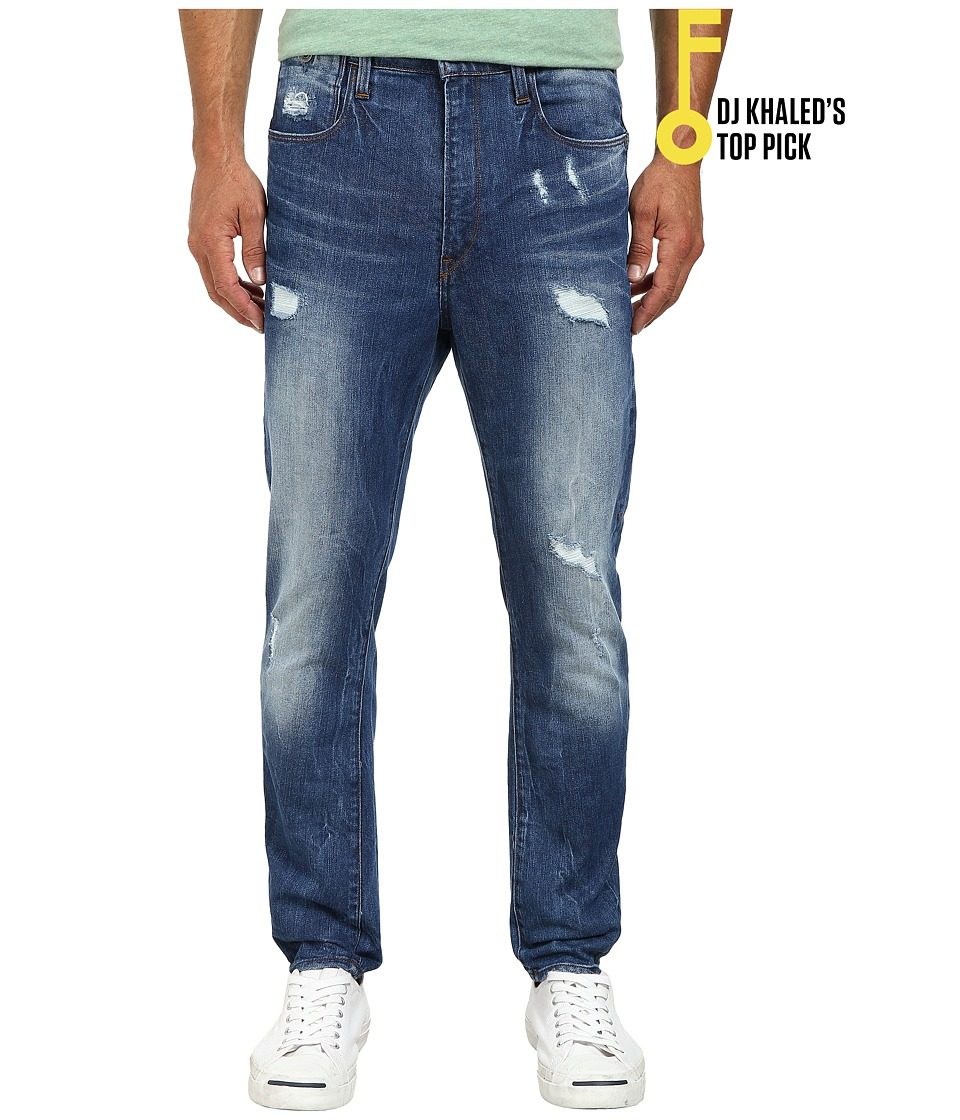G-Star - Type C 3D Super Slim in Accel Stretch Denim Light Aged Destroy (Accel Stretch Denim Light Aged Destroy) Men's Jeans