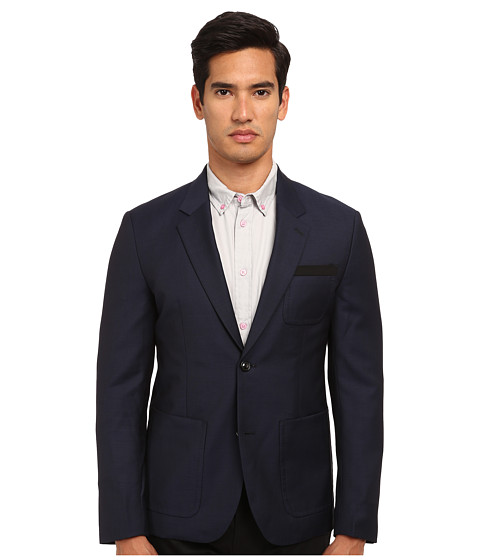Marc by Marc Jacobs - Tropical Wool Suiting Combo (Deep Navy Melange) Men