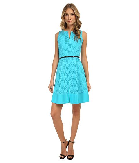 Calvin Klein - Scalope Eyelet Dress (Manganese) Women's Dress