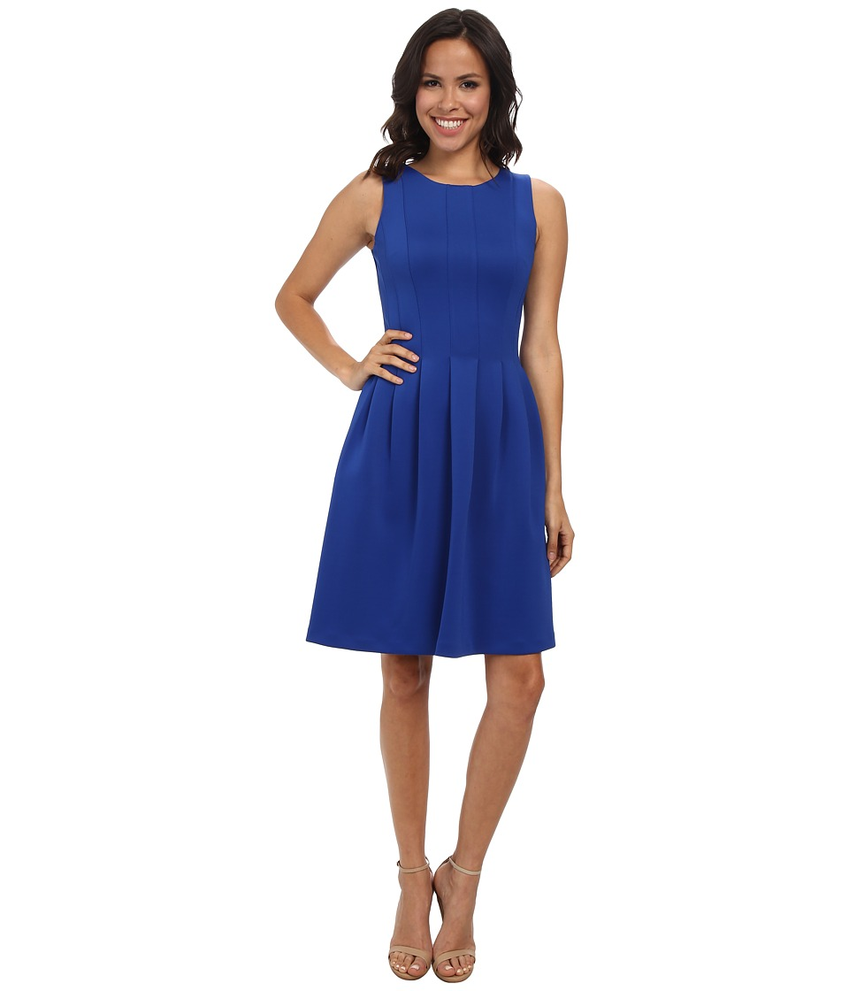 Calvin Klein - Fit Flare w/ Slim Pleat (Regatta) Women's Dress