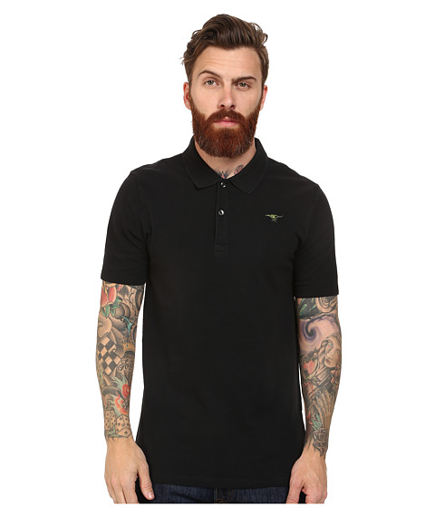G-Star - Nuelik Short Sleeve Polo T-Shirt (Black) Men's Short Sleeve Knit