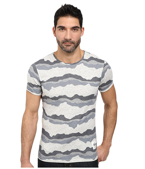 G-Star - Yoshem Round Neck Short Sleeve T-Shirt (Snow Heather) Men's T Shirt