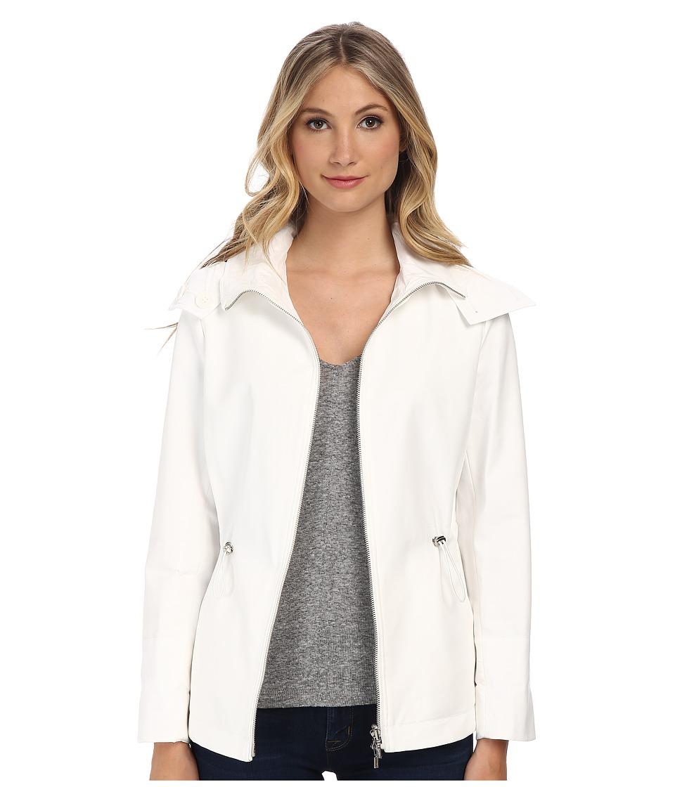 Calvin Klein - Reversible Short Jacket (Soft White) Women's Coat plus size,  plus size fashion plus size appare