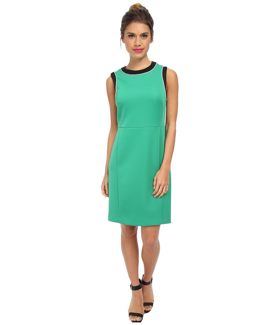 Vince Camuto - Sleeveless Color Block Dress (Lush Green) Women's Dress
