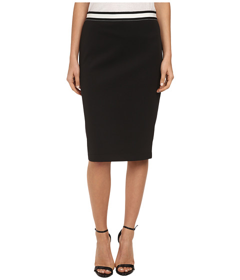 Vince Camuto - Knee Length Pencil Skirt (Rich Black) Women
