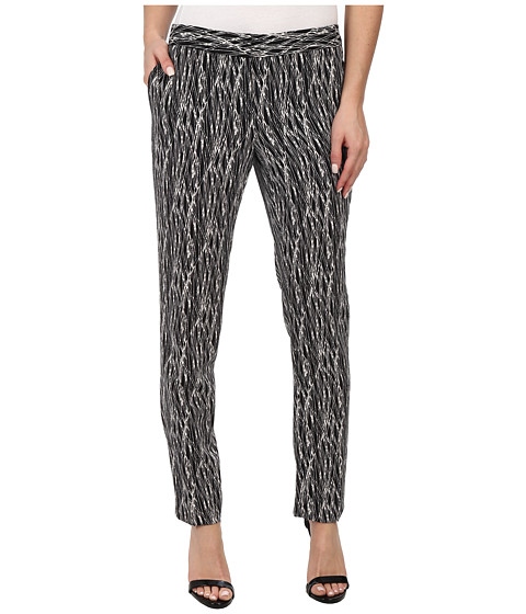 Vince Camuto - Linear Scratches Skinny Ankle Pant (Rich Black) Women's Casual Pants