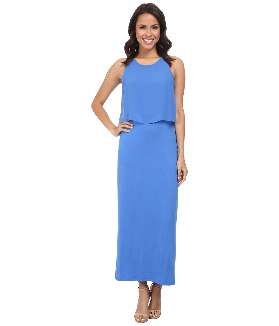 Vince Camuto - Sleeveless Maxi Dress w/ Woven Overlay Top (Classic Blue) Women's Dress