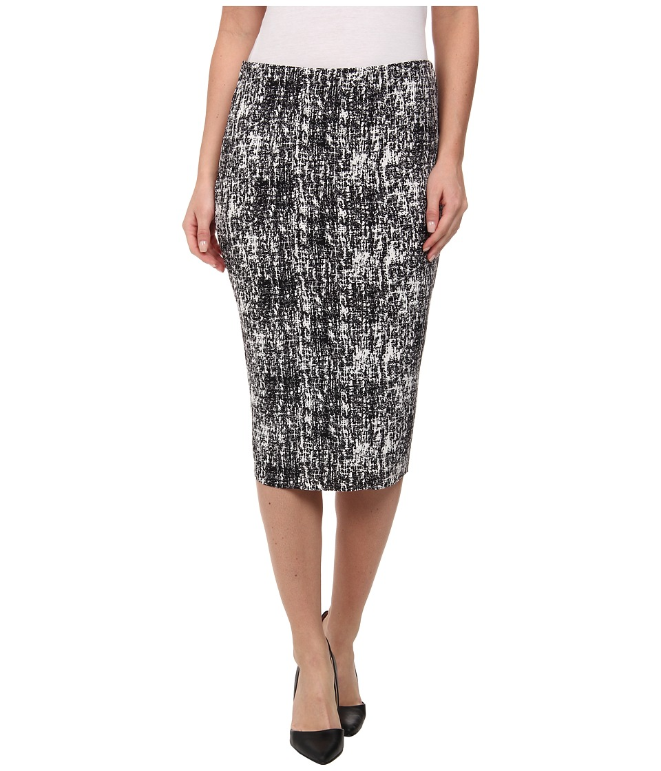 Vince Camuto - Texture Etching Midi Tube Skirt (Rich Black) Women
