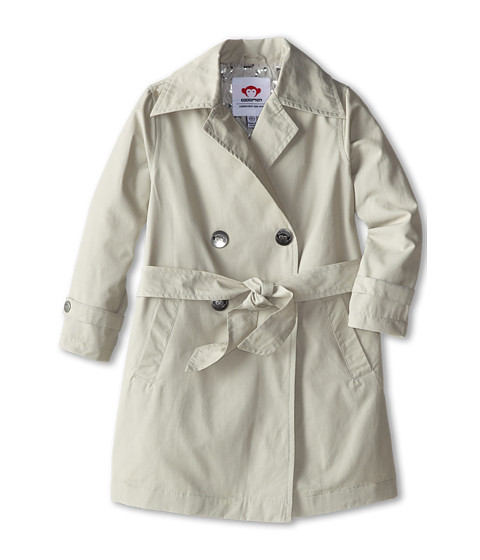 Appaman Kids - Trench Coat with Contrast Print Lining (Toddler/Little Kids/Big Kids) (Moonstruck) Girl's Coat