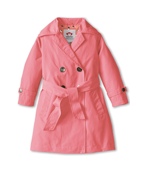 Appaman Kids - Trench Coat with Contrast Print Lining (Toddler/Little Kids/Big Kids) (Seycelles) Girl's Coat