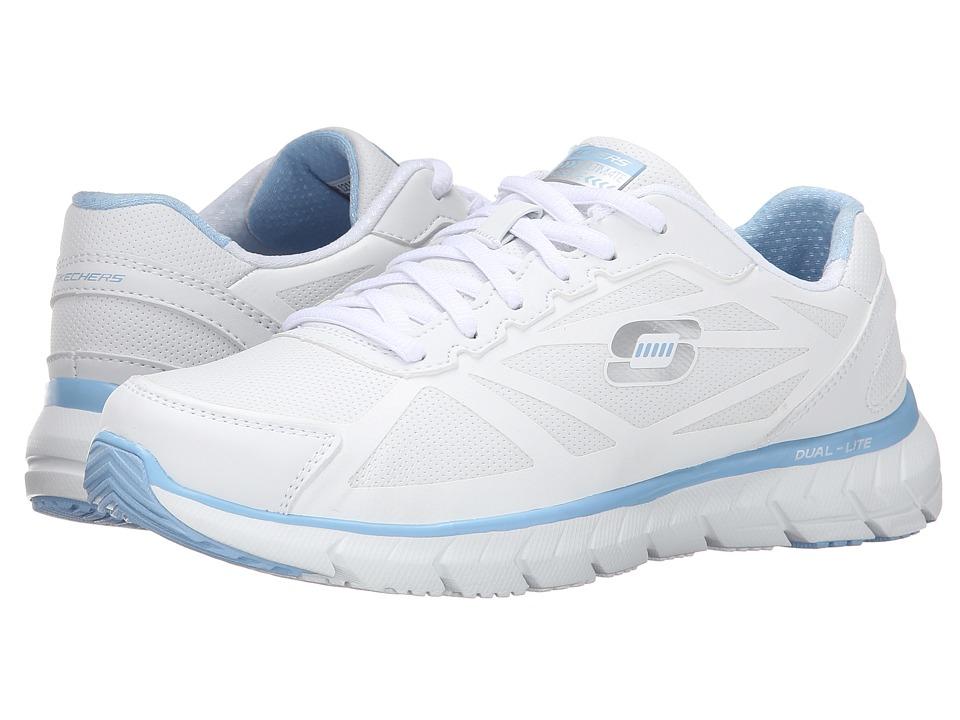 SKECHERS - Soleus (White Blue) Women's Lace up casual Shoes