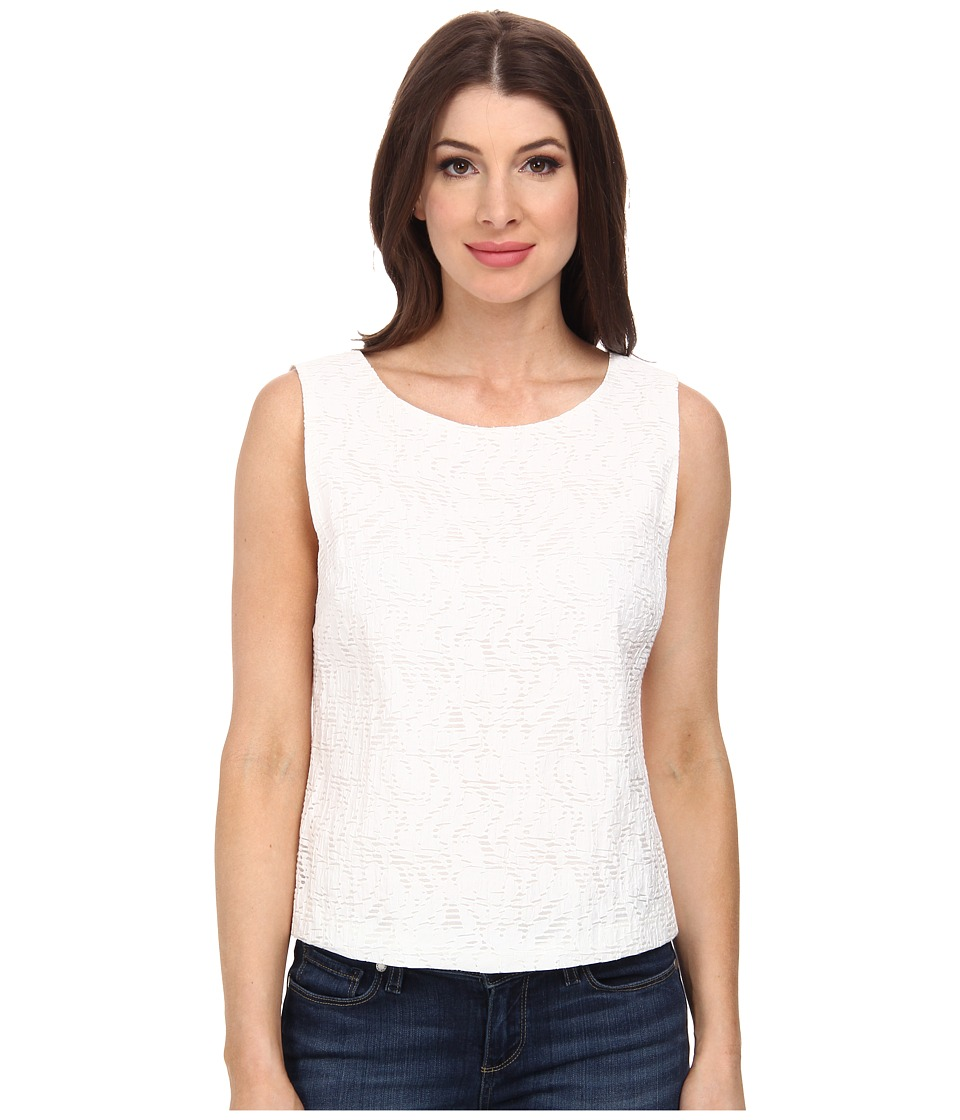 Vince Camuto - Sleeveless Crop Shell (New Ivory) Women's Sleeveless