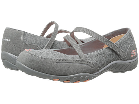 SKECHERS - Breathe-Easy - Miss Me (Gray) Women's Flat Shoes