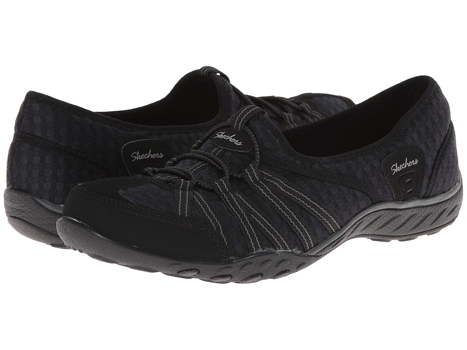 SKECHERS - Breathe-Easy - Dimension (Black) Women's Flat Shoes