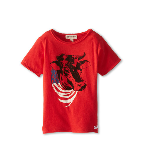 Appaman Kids - Super Soft Short Sleeve Tee with Bull (Toddler/Little Kids/Big Kids) (Washed Red) Boy