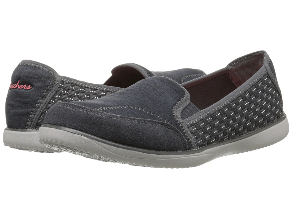 SKECHERS - Tracy K (Gray) Women's Slip on Shoes