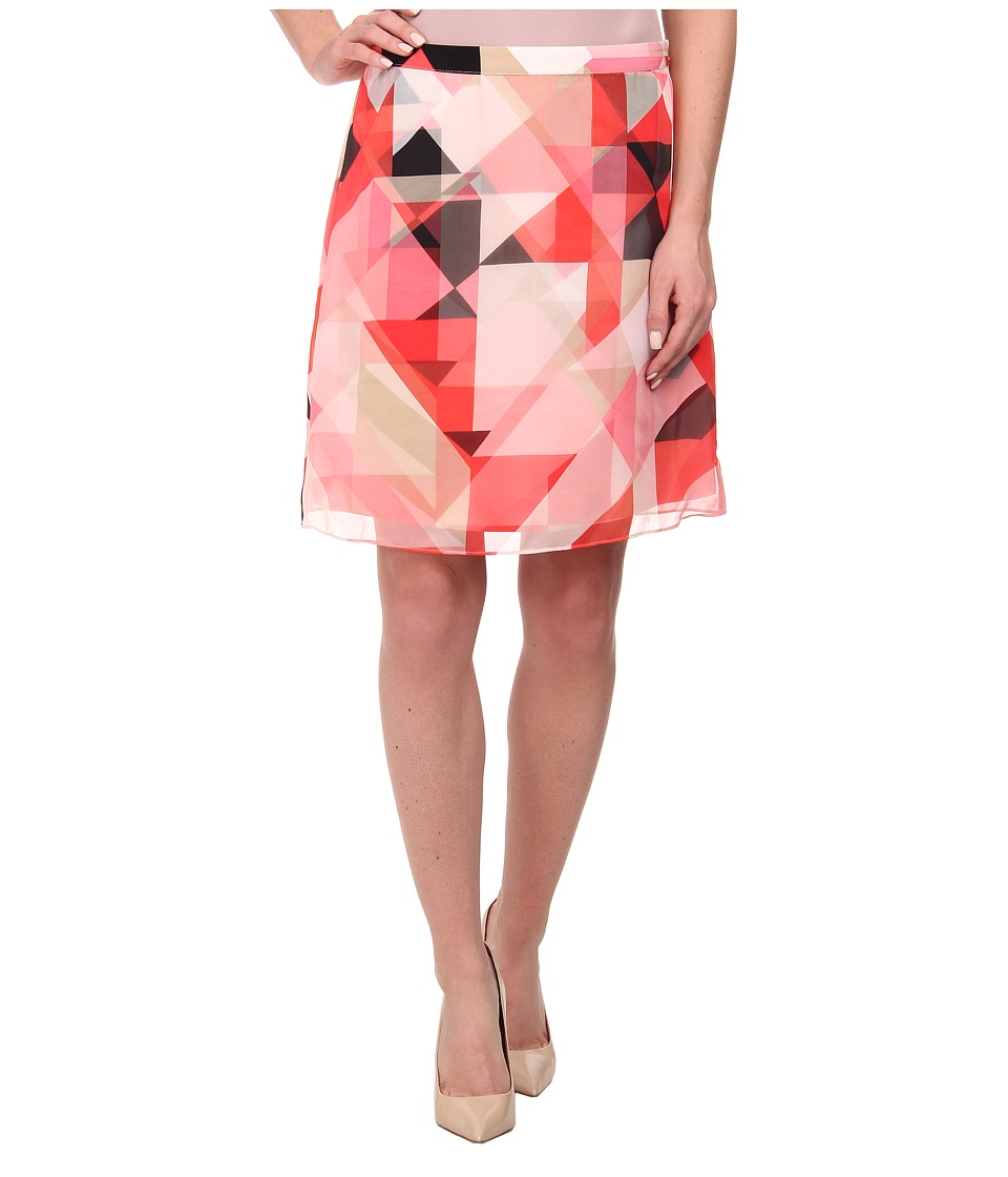 Vince Camuto - Sorbet Squares A-Line Double Layer Skirt (Taffy Pink) Women