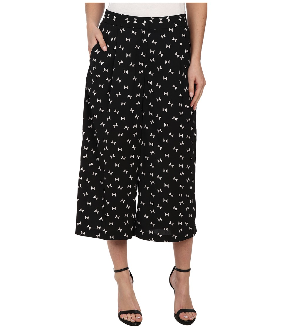 Vince Camuto - Wide Leg Geo Ties Culottes (Rich Black) Women's Clothing