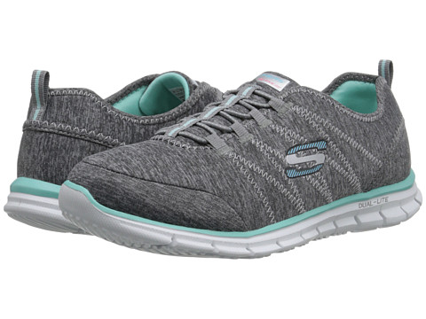 SKECHERS - Glider - Electricity (Gray Aqua) Women