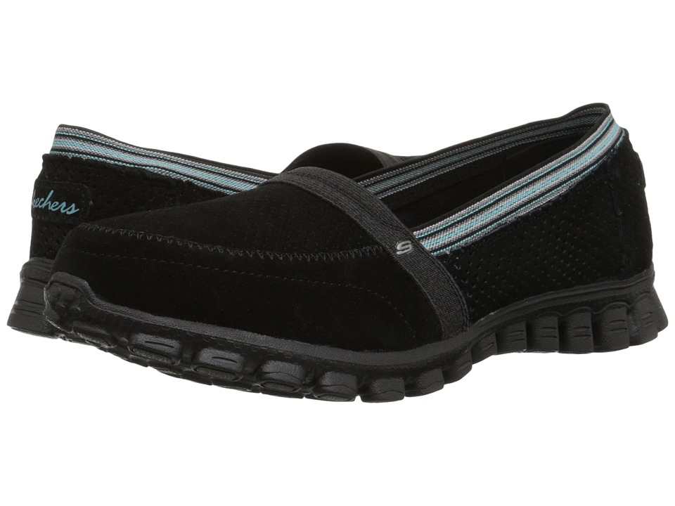 SKECHERS - EZ Flex 2 (Black) Women's Slip on Shoes