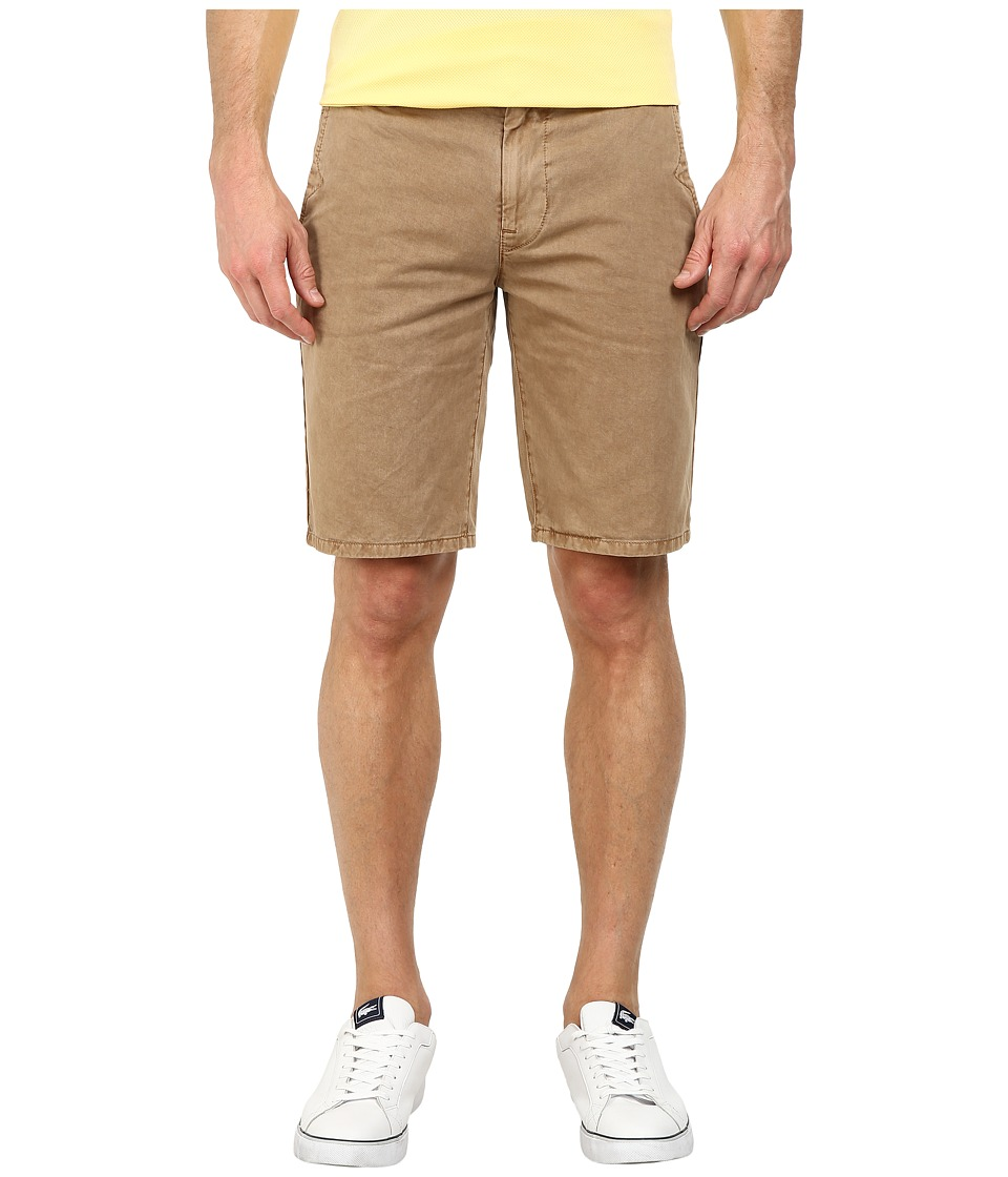 BOSS Orange - Sairy1-D Nice Rigid Gabardine Slim Fit Shorts (Dark Beige) Men's Shorts