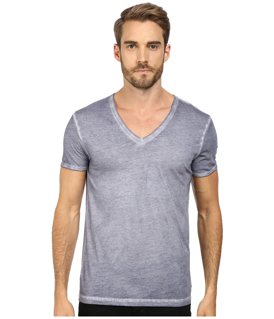 BOSS Orange - Toulouse Garment Dyed Jersey Fashion Fit Short Sleeve V-Neck Tee (Light/Pastel Grey) Men's T Shirt