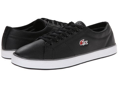 Lacoste - Marcel Evo HTB (Black/Red) Men's Shoes