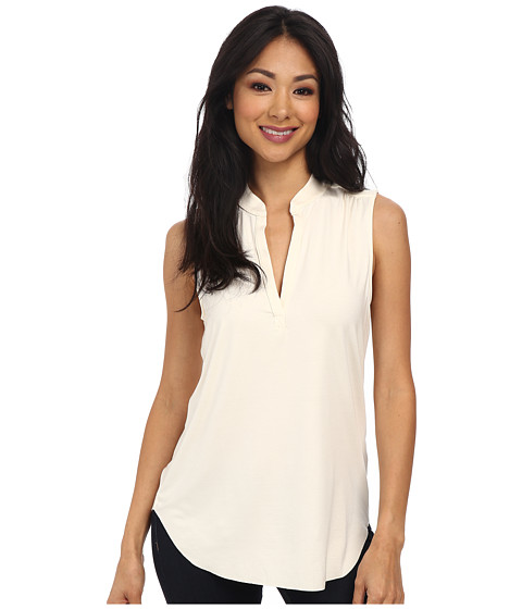 Three Dots - Sleeveless V-Neck Top (Gardenia) Women