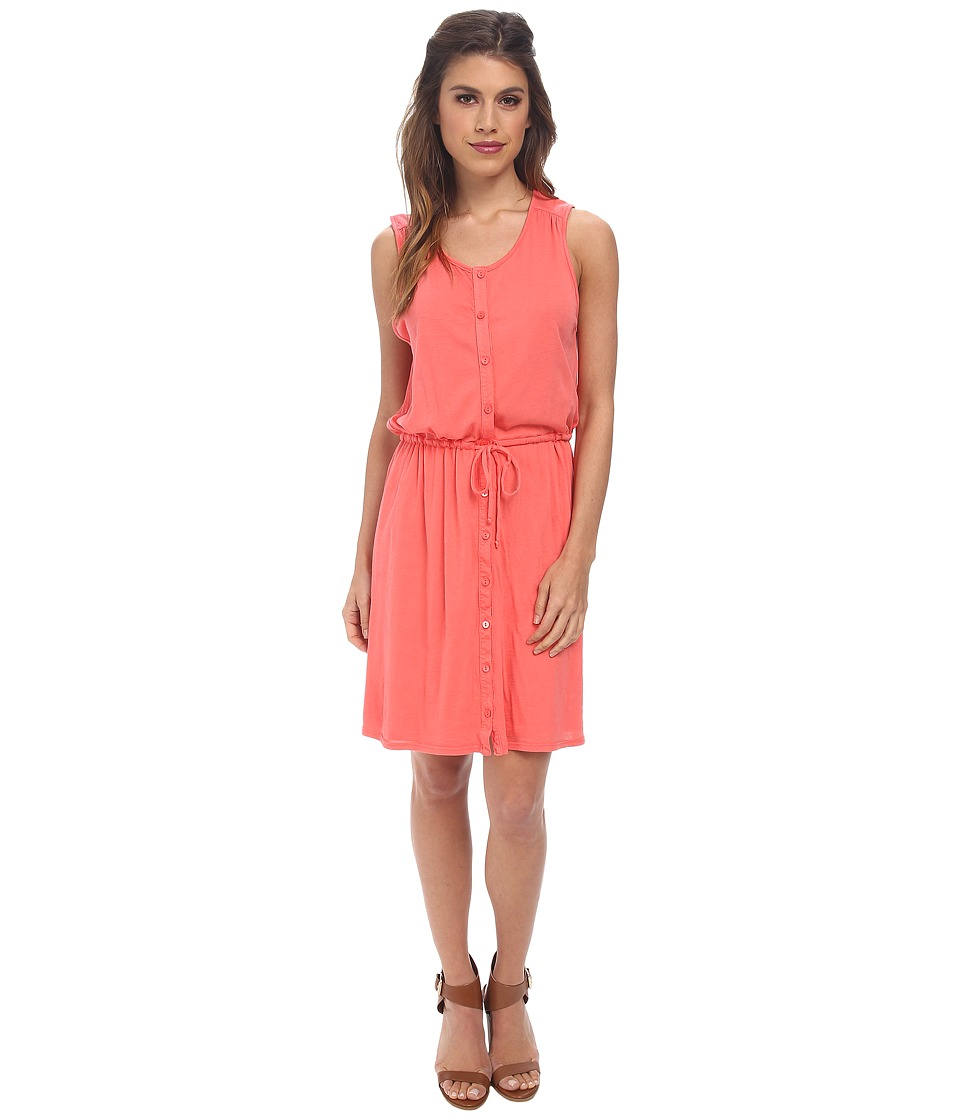 Three Dots - Sleeveless Shirt Dress (Dubarry Rose) Women