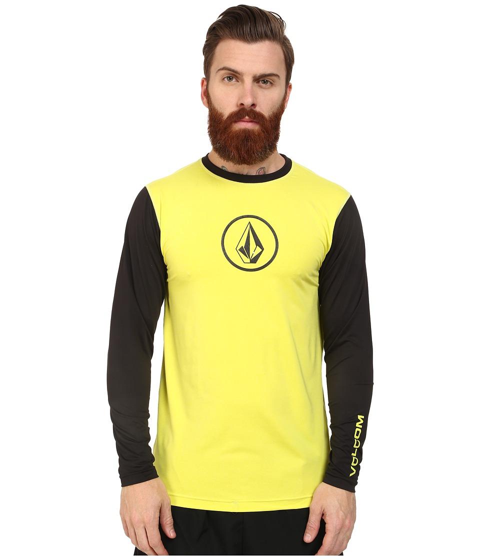 Volcom Heather Long Sleeve Rashguard (Lime) Men