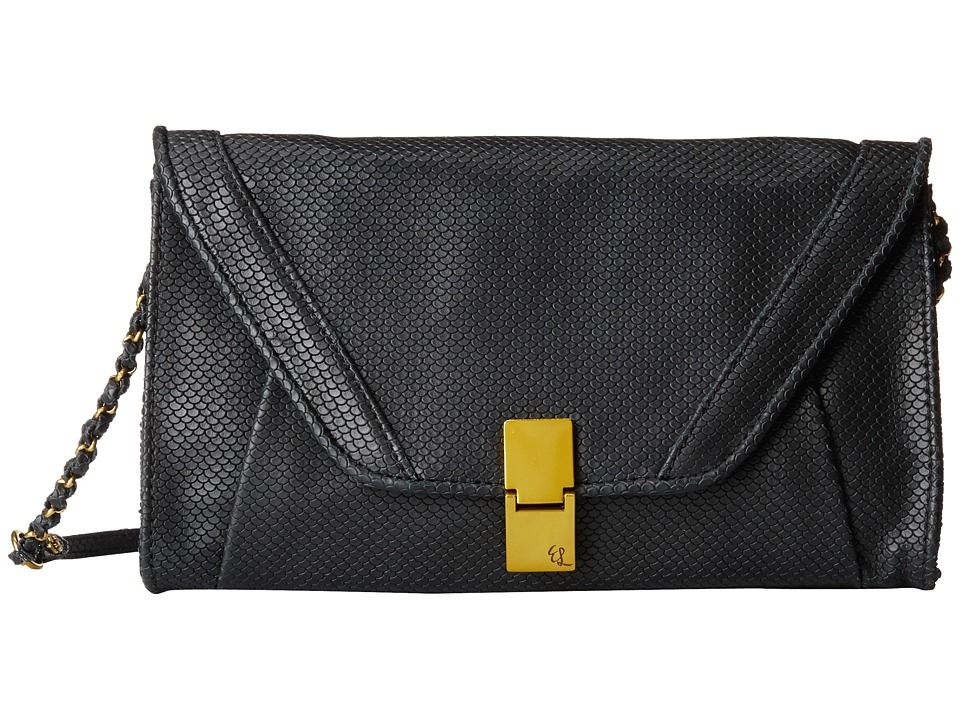 Elliott Lucca - Cordoba Flip Lock Clutch (Black Scallop) Clutch Handbags