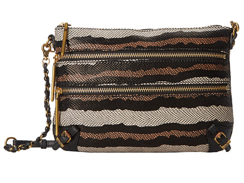 Elliott Lucca - Messina 3 Zip Clutch (Porcelain Stripe) Clutch Handbags