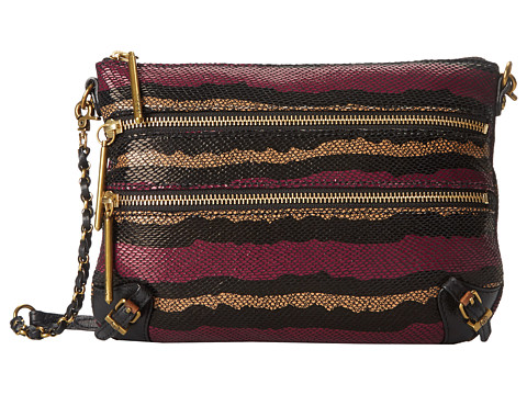 Elliott Lucca - Messina 3 Zip Clutch (Orchid Stripe) Clutch Handbags