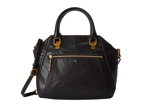 Elliott Lucca - Faro City Satchel (Black Perf) Satchel Handbags