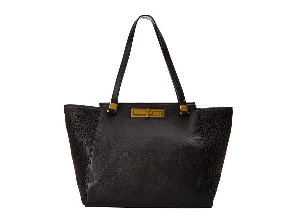 Elliott Lucca - Daphne Shoulder Tote (Black Moroccan) Tote Handbags