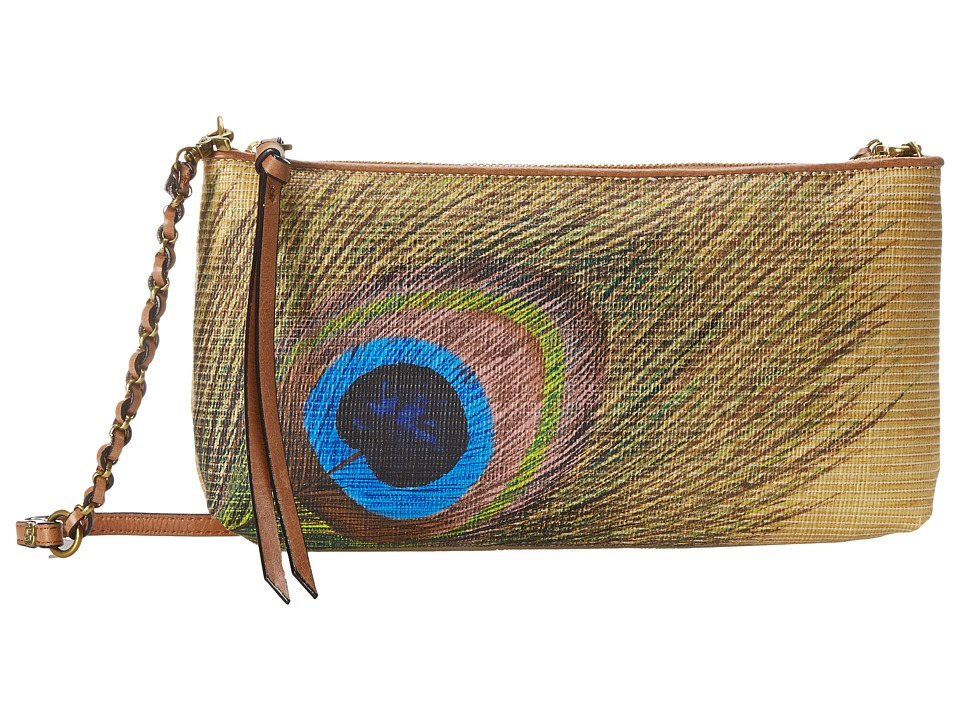 Elliott Lucca - Artisan 3 Way Demi Clutch (Peacock Raffia) Clutch Handbags