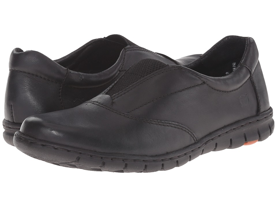 Born - Ronja (Black Full Grain) Women's Slip on Shoes