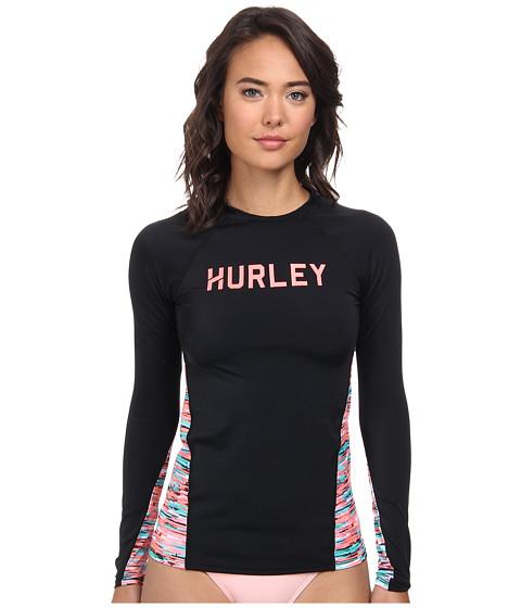 Hurley - Static Surf Shirt (Black) Women's Swimwear