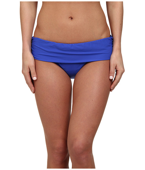 Athena - Finesse Solid Banded Pant (Blue) Women