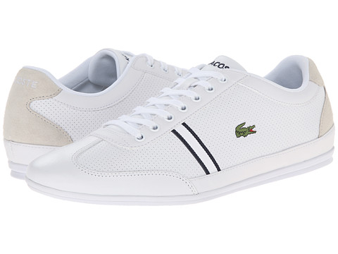 Lacoste - Misano Sport HTB (White/Light Grey) Men's Shoes
