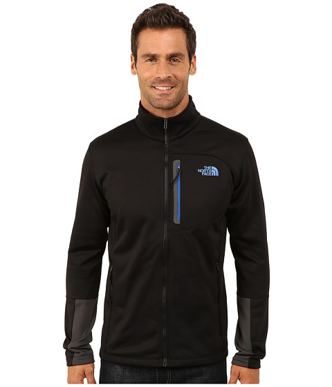 The North Face - Canyonlands Full Zip Sweatshirt (TNF Black/Monster Blue) Men's Coat