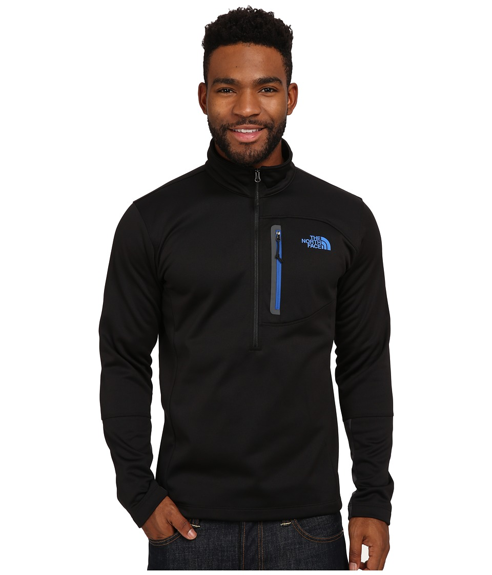 The North Face - Canyonlands 1/2 Zip Pullover (TNF Black/Monster Blue) Men's Sweatshirt